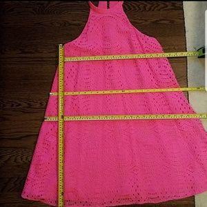 Lilly Pulitzer Dresses - NWOT Lilly Pulitzer Quinn hot pink halter dress